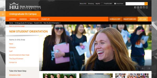 Hope International University Student Orientation