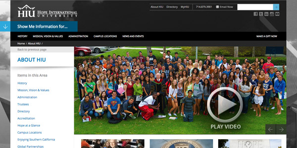 About Hope International University