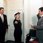 Grace Hopper being promoted to Commodore, by Pete Souza, Official White House Photographer for Presidents Reagan and Obama